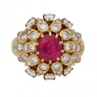 Van Cleef & Arpels Burmese ruby and diamond ring, circa 1960.