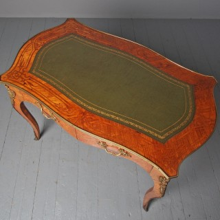 Antique Victorian Inlaid Kingwood Writing Table
