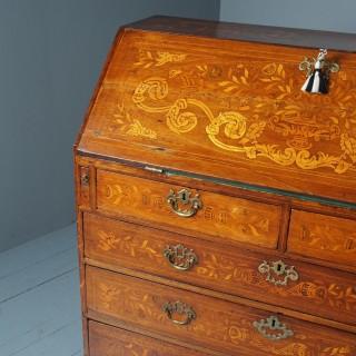 Early 19th Century Large Dutch Marquetry Bureau