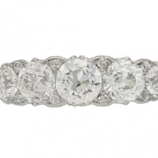 Edwardian five stone diamond ring, circa 1905.
