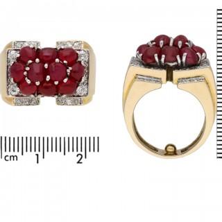 Trabert & Hoeffer with Mauboussin Burmese ruby and diamond ring, circa 1940.