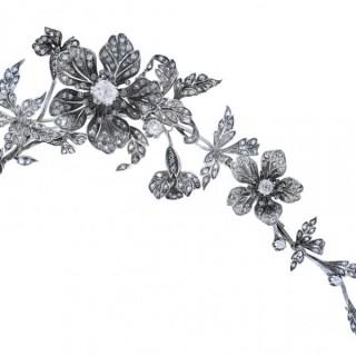 Convertible diamond corsage ornament, French, circa 1850.