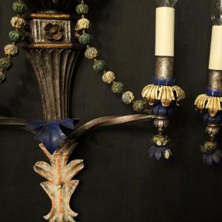 Florentine Polychrome Antique Wall Lights
