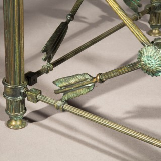 Neoclassical Bronze Low Table