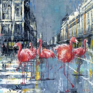 Flamingos in Paris
