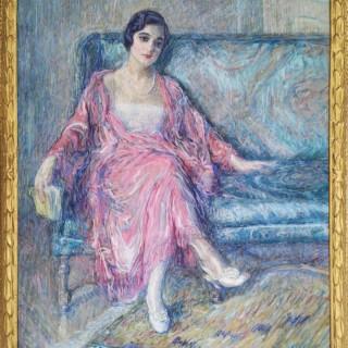 Portrait de Mademoiselle R. Lequien  by  William Malherbe (1884 – 1955)