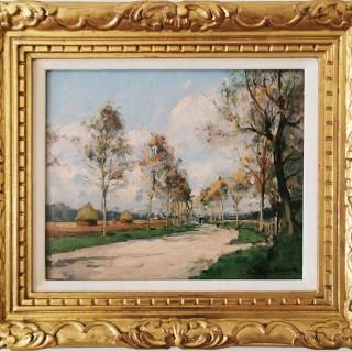 L'allée des peupliers  by  Paul Émile Lecomte (1877-1950)