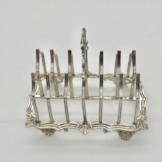Antique William IV Sterling Silver Toast Rack London 1831 Charles Fox