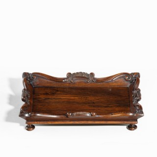 A William IV rosewood desk tidy attributed to Gillows
