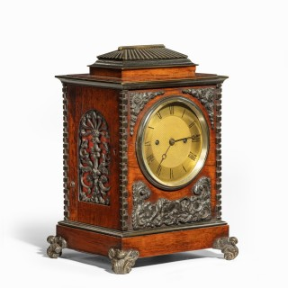 A William IV rosewood and bronze bracket clock by Frodsham 185 & Baker