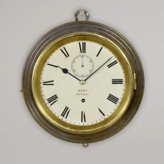 DENT, LONDON N° 1722.  An English Travelling Wall Clock