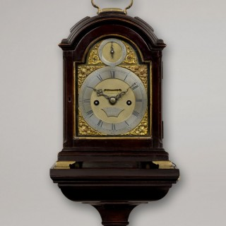 WILLIAM HUGHES, HIGH HOLBORN, LONDON. A miniature ebonised striking bracket clock of rare small size