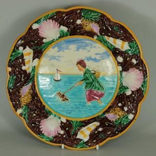 George Jones Majolica Shrimper Plate