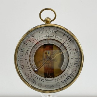Rare Series Two Bourdon & Richard Aneroid Barometer with Thermometer
