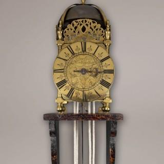 GEORGE CLARKE WHITECHAPPEL  FECIT. A good 18th century London Third period lantern clock