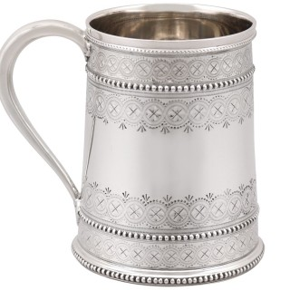 Sterling Silver Christening Mug - Antique Victorian (1881)