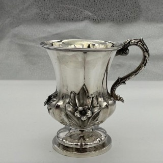 Antique William IV Sterling Silver Christening Mug London 1838 John Tapley
