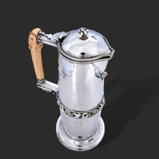 A William Henry Creswick arts and crafts silver flagon