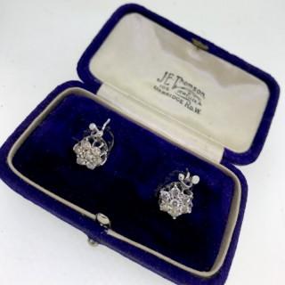 Belle Epoque Period Diamond Earrings