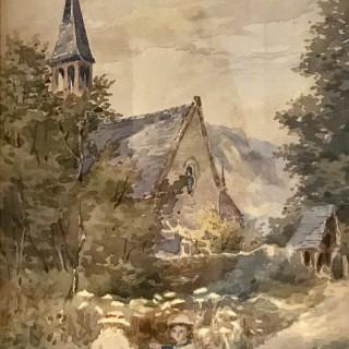 Watercolour attributed to Ethel Martin Fridlander
