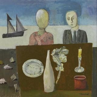 'Strange Couple' by Simon Quadrat PPRWA NEAC (born 1946)