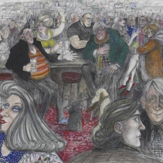 'At the Bar, The Wykeham Arms' by Sue Macartney Snape (born 1957)