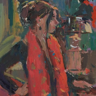 'The Red Scarf' by Luke Martineau (born 1970)