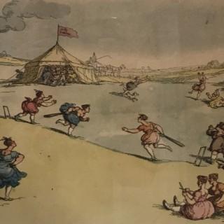 Thomas Rowlandson Rural Sports or Cricket Match Extraordinary