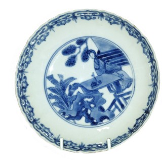Kangxi Blue and White Small Molded Plate