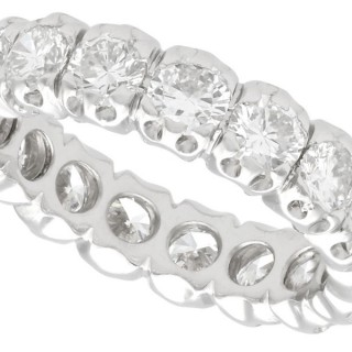 2.20ct Diamond and 18ct White Gold Full Eternity Ring - Vintage French Circa 1980