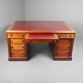 Antique Large William IV Mahogany Partners Desk