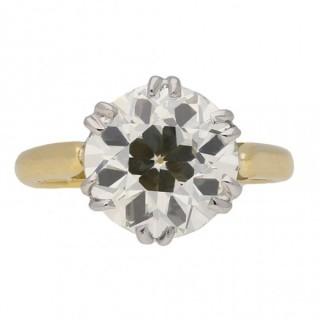Edwardian solitaire diamond ring, circa 1910.