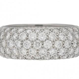 Vintage Tiffany & Co. five row diamond ring, American, circa 1970.