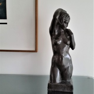 Stanley Nicholson Babb FRSA (1874-1957) standing female, bronze c.1925