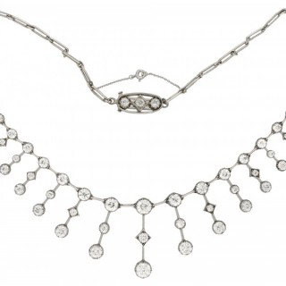 Antique diamond necklace, circa 1880.