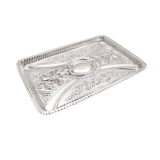 Antique Victorian Sterling Silver Dressing Tray 1898