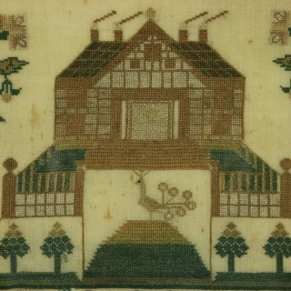 Antique Scottish Sampler, 1840, by Mary & Christian