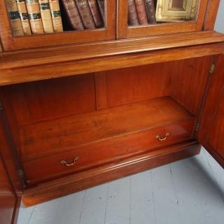 Antique George IV Mahogany 2 Door Cabinet Bookcase