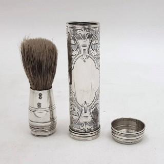 Antique Silver Shaving Brush