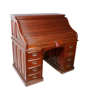 English Mahogany Roll Top Desk