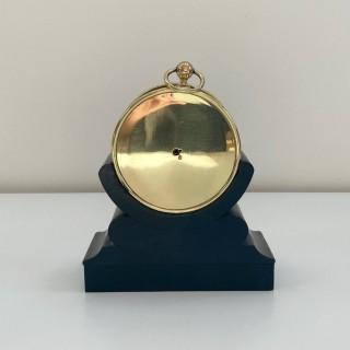 Small Bourdon Aneroid Desk Barometer on Ebonised Stand for Pillischer London
