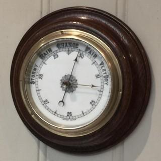 Oak Aneroid Barometer