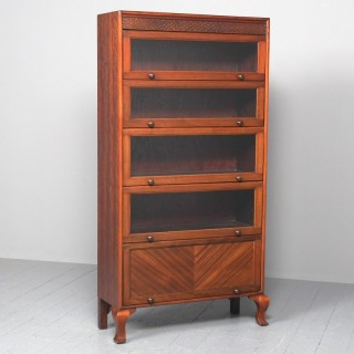 Mahogany 5 Door Sectional Bookcase