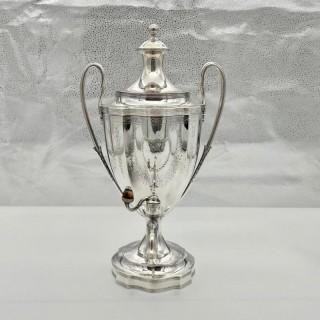 Antique George III Sterling Silver Tea Urn London 1796 Peter & Ann Bateman