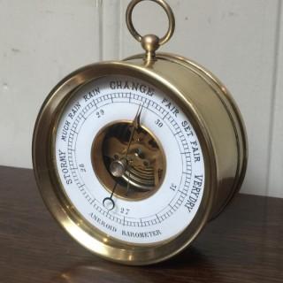 Late 19th Century Brass Desk Barometer