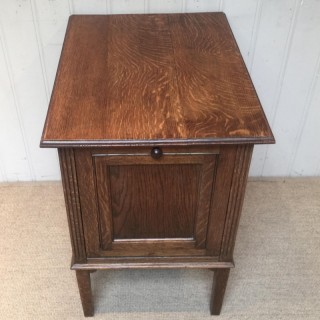 Unusual Oak Filing Cabinet