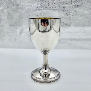 Antique George III Large Sterling Silver Wine Goblet London 1790 Henry Green