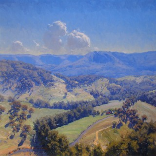 'River through the Valley' by Warwick Fuller (born 1948)