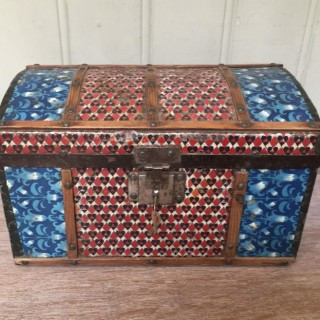 Colonial Dome Top Tin Casket