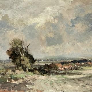 Landscape near Martham, Norfolk by Edward Seago